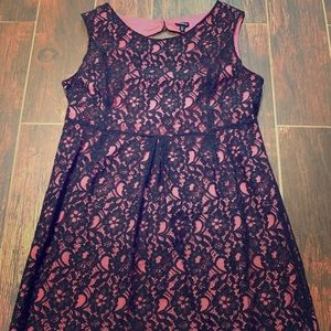 Black lace dress with back cut out